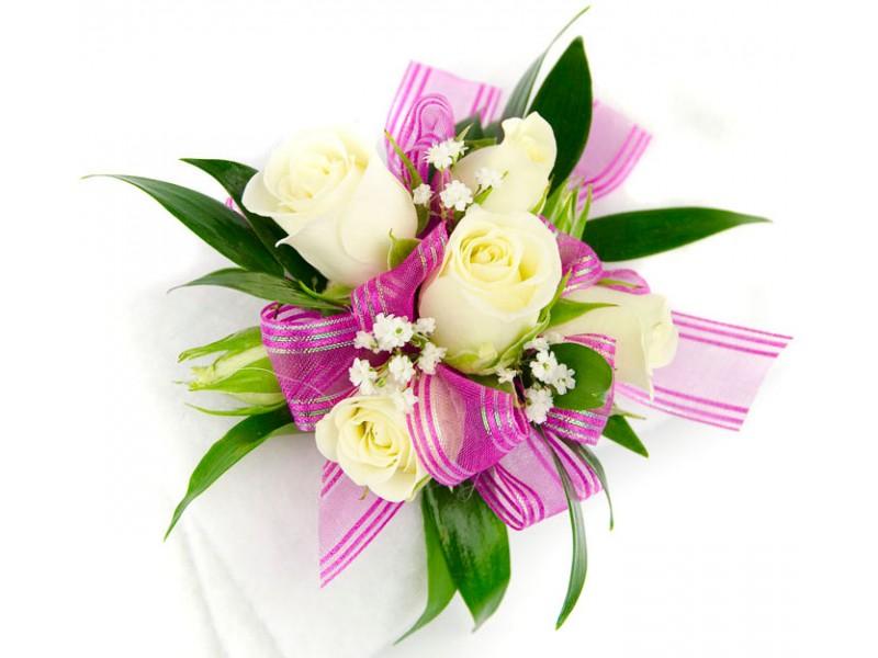 corsage wristlet medium strange's florists, greenhouses  garden, Beautiful flower