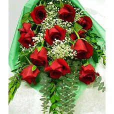 Red Wrapped Roses