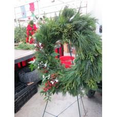 Fresh Hand Crimped Wreath