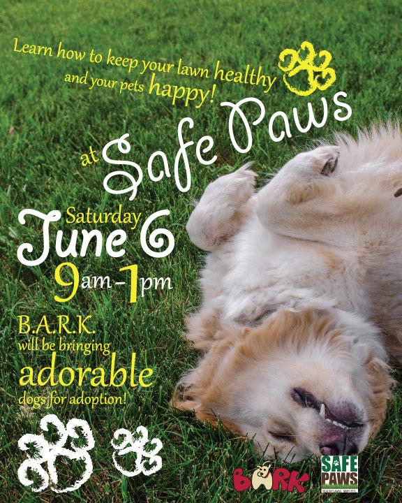 Safe Paws 8x10 Bathroom Sign