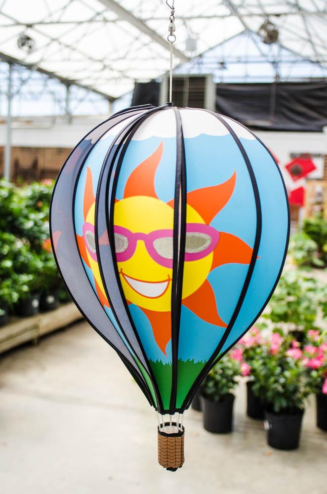 hot air balloon garden decor